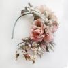 Ободок с розами. Украшение на голову,цветы из шелка