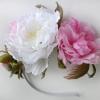 Ободок с шелковыми цветами