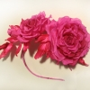 Ободок с шелковыми цветами, цветы из шелка