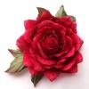Роза из бархата, цветы из ткани