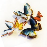 бабочки из шелка