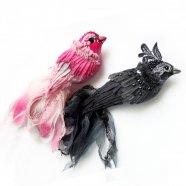 птички-броши ручной работы