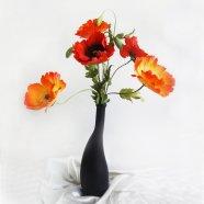 Букет маков. цветы из шелка