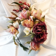 цветы из шелка. цветы их ткани. цветы из шелка ручной работы. шелковая флористика