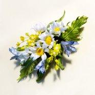 бутоньерка из полевых цветов