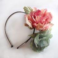 ободок ручной работы, обруч с цветами