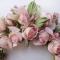 Розы из шелка на ободке-кокошнике