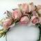 кокошник-ободок из мелких роз, цветы из ткани, цветы ручной работы