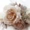 Розы ручной работы на свадебной шляпке. цветы из шелка ручной работы