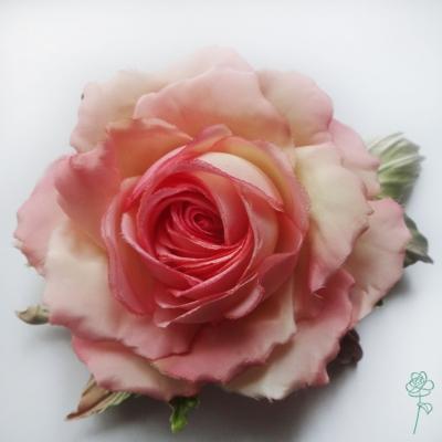 роза брошь ручной работы