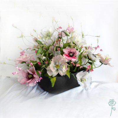 цветы интерьерные ручной работы
