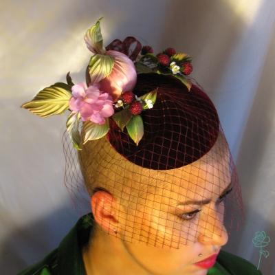 шляпка коктейльная, шляпка для скачек